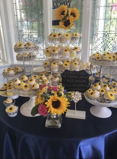 Floral-themed sweet treats