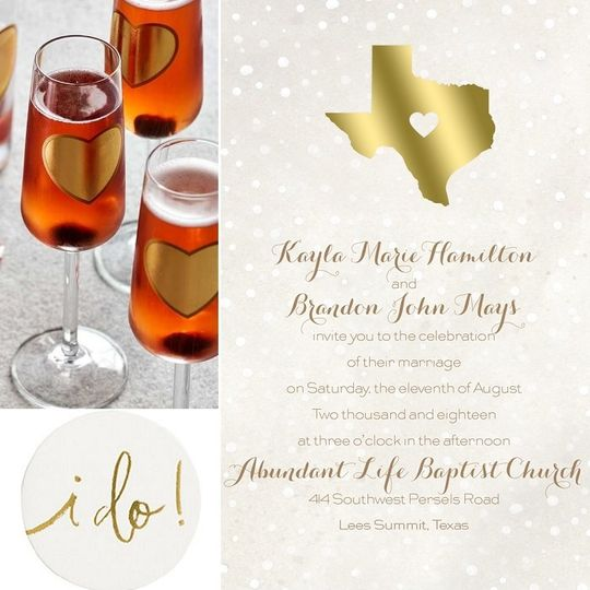 Be inspired by this collection which features a wedding invitation that showcases your home state.
