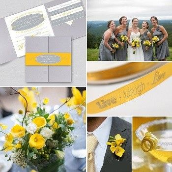 This modern and vibrant grey and yellow color palette will add so much life to your wedding day.