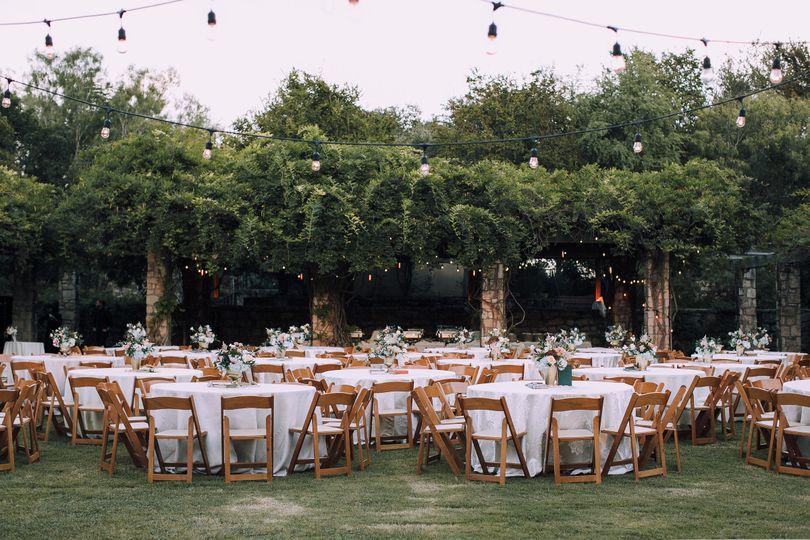 Outdoor wedding reception Amphitheater