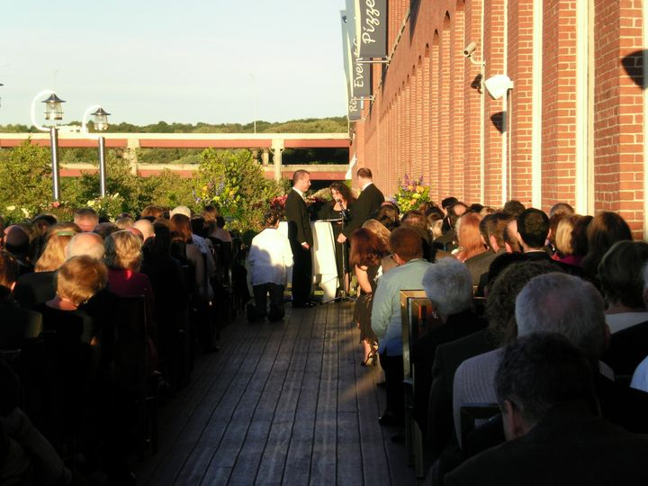 Fall ceremony on the deck