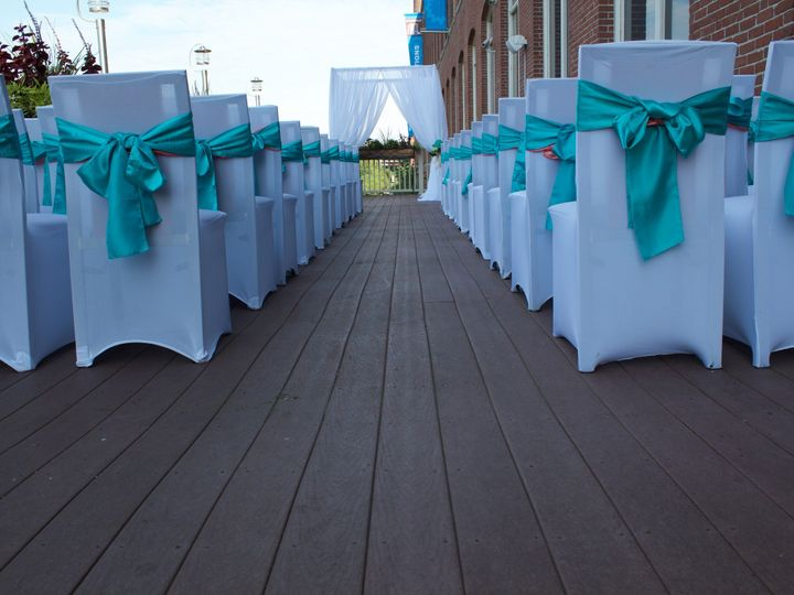 Tmx 1498767486341 Deck Ceremony Chair Covers Lawrence, MA wedding venue