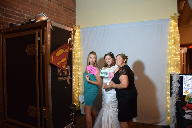 Let loose and have fun in the photo booth!