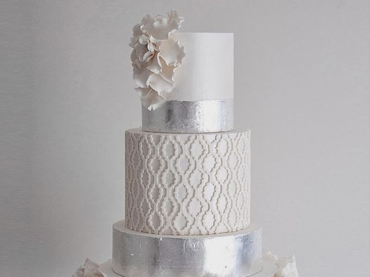 Tmx 1423009441353 Wedding Cakes Silver Metallic 21b Brooklyn wedding cake