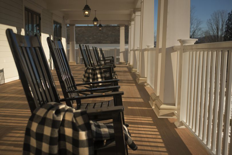 Seats by the porch