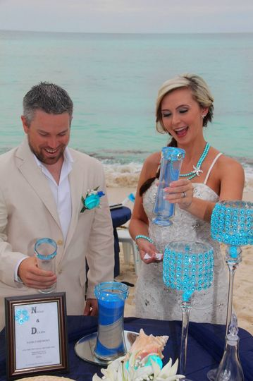 The sand ceremony is just one of the many add-ons we can offer for your wedding or vow renewal.