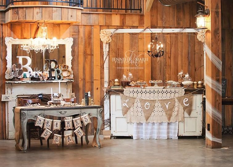 The wooden reception