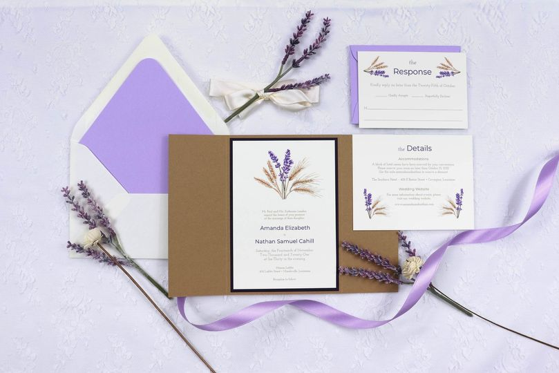 Lovely Lavender & Wheat suite