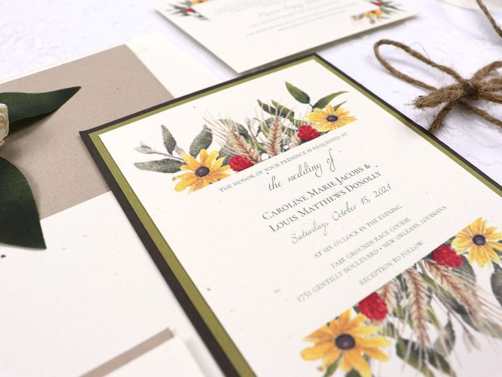 Tmx Fall Recycled7 51 1962723 159285538626727 Metairie, LA wedding invitation