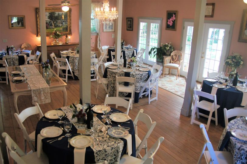 Our Magnolia Event Room is perfect for small receptions, rehearsal dinners, and bridal showers.