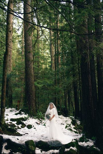 Vancouver Canada Wedding.  Forest Wedding