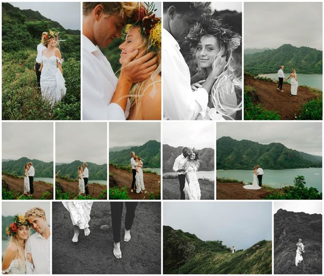 Hawaiian Elopement Montage
