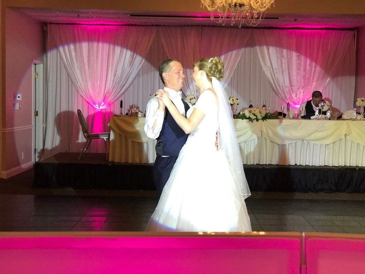 First Dance with our intelligent lighting spotted on this beautiful couple!