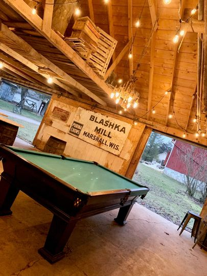 Pool table for the wedding party