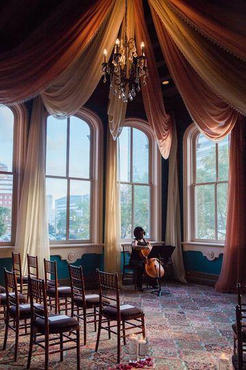 Solo cello at the 1840s Plaza