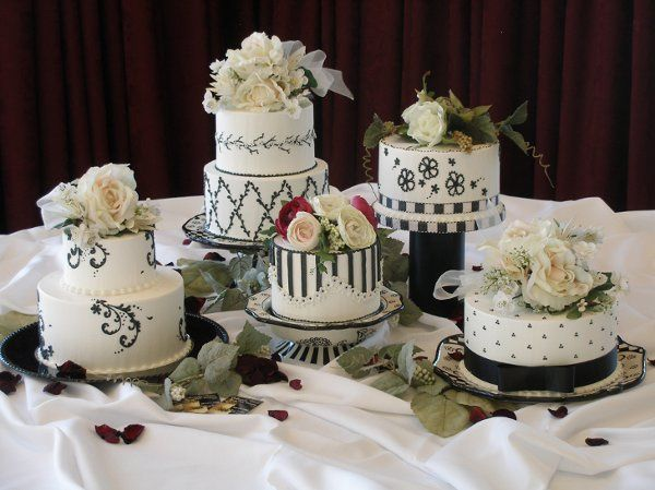 Black and White Cake Grouping