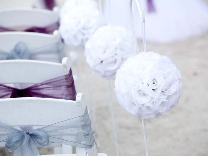 Tmx 1440086636576 Plum And Silver Sashes With Ivory Pomanders Saint Petersburg wedding planner