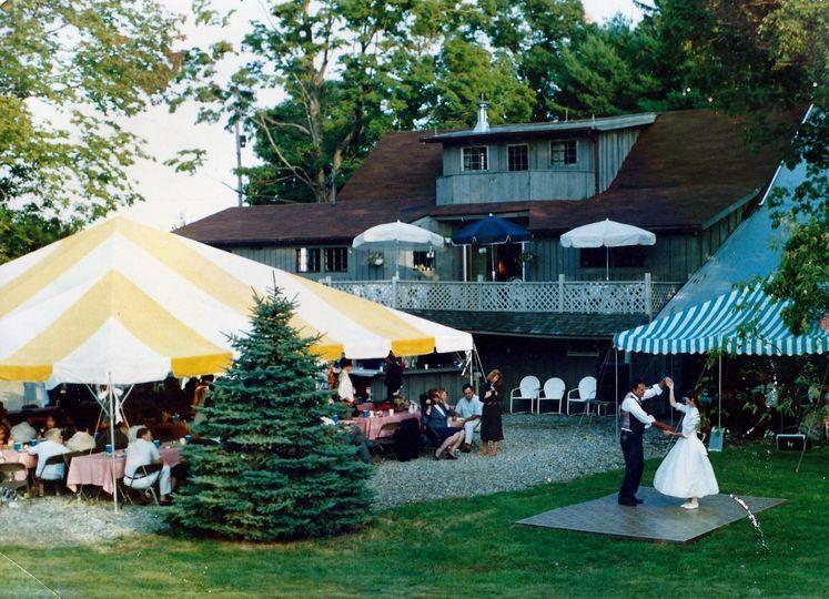 wedding event in backyard of winery
