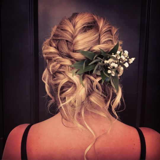 Bridal Updo at Blackthorne PA
