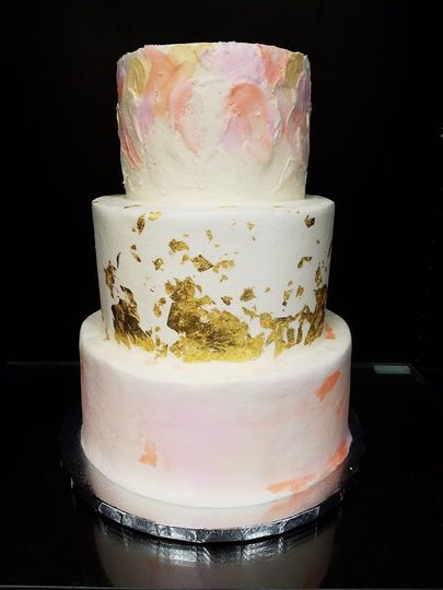 Wedding cake with watercolor design
