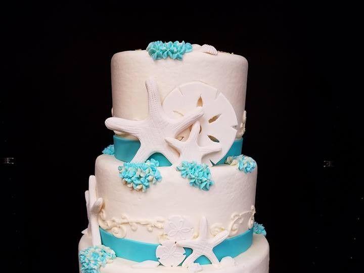 Tmx 1477274282143 Beach Wedding Theme Winter Haven wedding cake