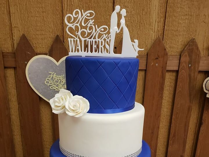 Tmx 1530892578 F0a06f6469924c96 1530892577 B3f762ed8b0f6d62 1530892577251 12 Wedding Navy Blue Winter Haven wedding cake