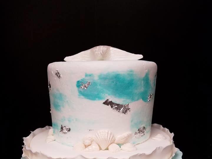 Tmx 1531019708 26d9c7e125dfb44a 1531019708 F427a6810a150e2d 1531019709319 19 Ombre Ruffle Cake Winter Haven wedding cake
