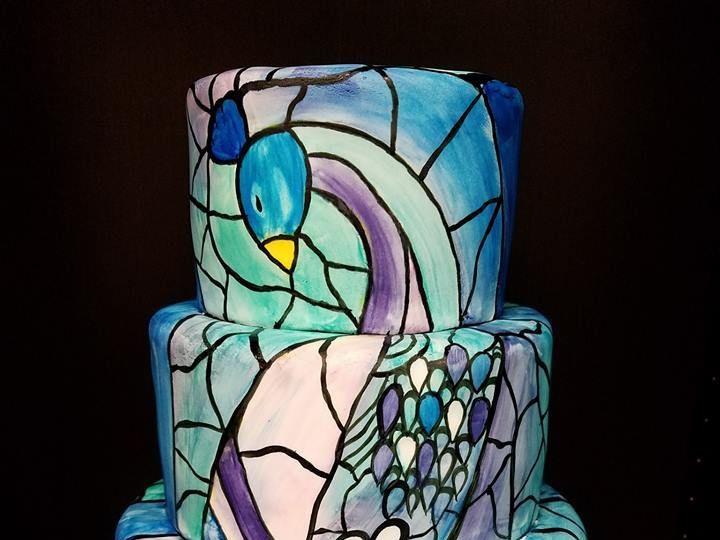 Tmx 1531019910 68066b2c383eea0e 1531019910 0c153f87ca326a8c 1531019911367 27 Stain Gladd Peaco Winter Haven wedding cake