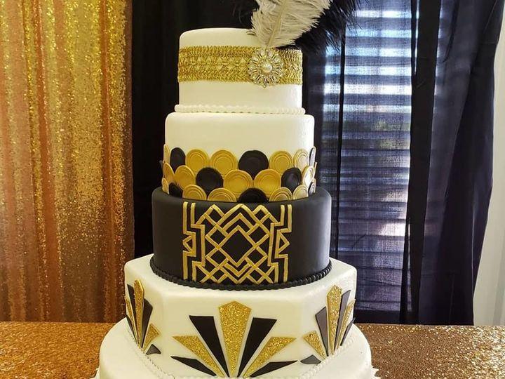 Tmx 1534979505 1acc66ccdf6cdad1 1534979504 E3298e445dfe8684 1534979504890 1 Great Gatsby Theme Winter Haven wedding cake