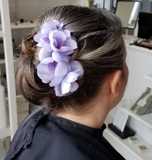 Lilac affair bridal hair