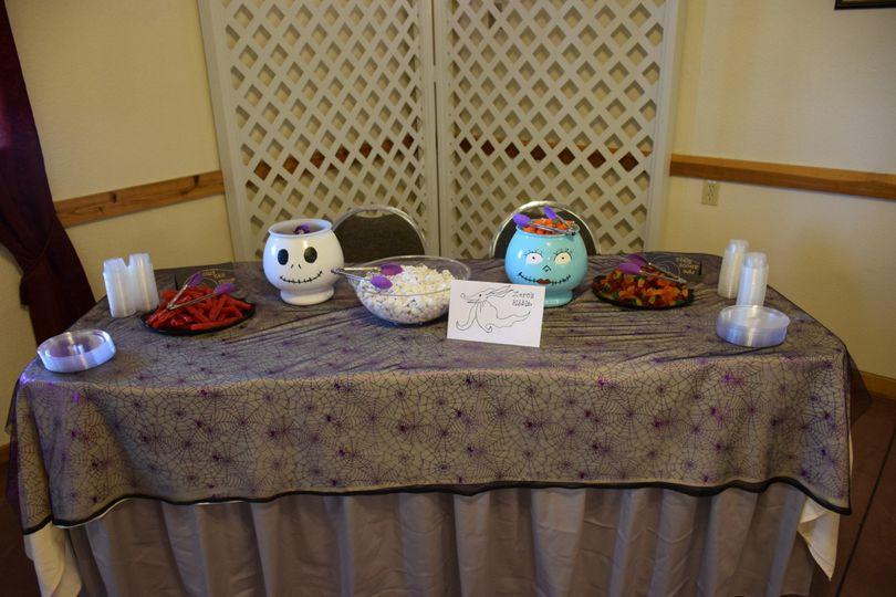 Wedding halloween theme