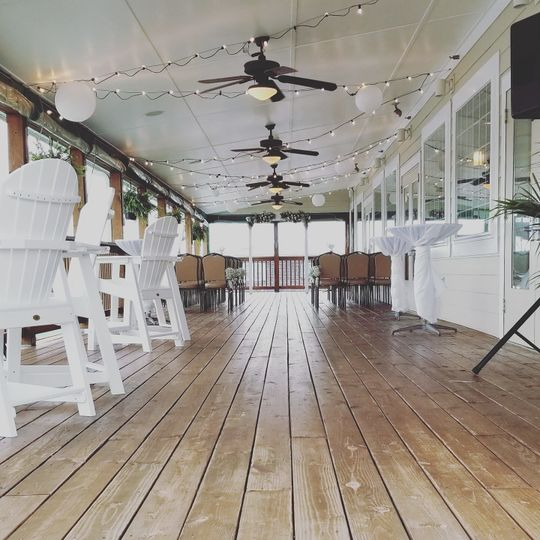 The wooden venue