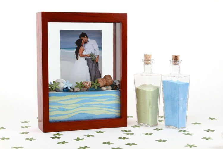 Announcing the latest in Wedding Unity Sand Ceremony Keepsakes...the Forever Frame...available in 6...