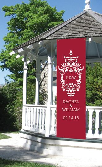 Personalized Damask Banner  New and Beautiful!  Make a splash with a personalized banner. This...
