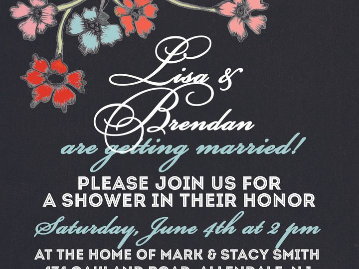Tmx 1368540287375 Chalkboard Flowers Invite Copy 2 Maplewood wedding invitation