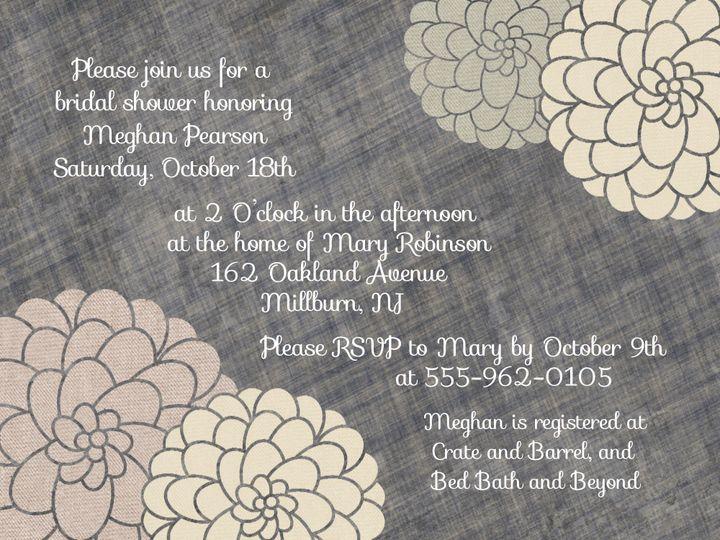 Tmx 1368540503467 Textured Flowers Maplewood wedding invitation