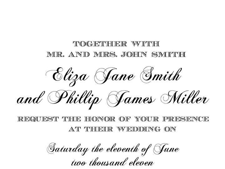 Tmx 1368540909924 Simple Formal Invite Maplewood wedding invitation