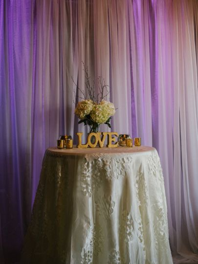 Love table setup