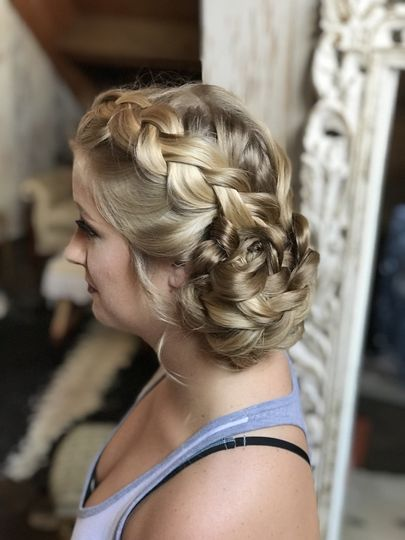 Blonde low braids