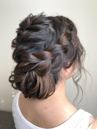 Brown braids