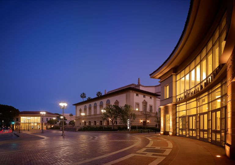 Exterior view of The Grand Ballroom at the Pasadena Convention Center