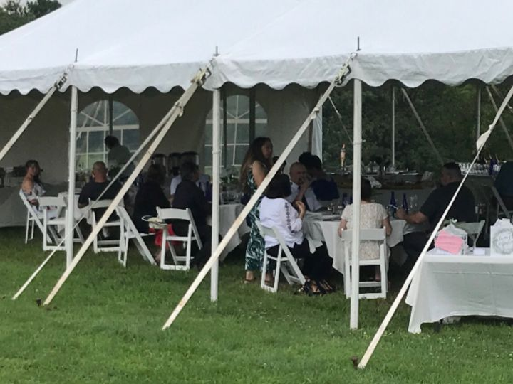 Tents with tables of any size