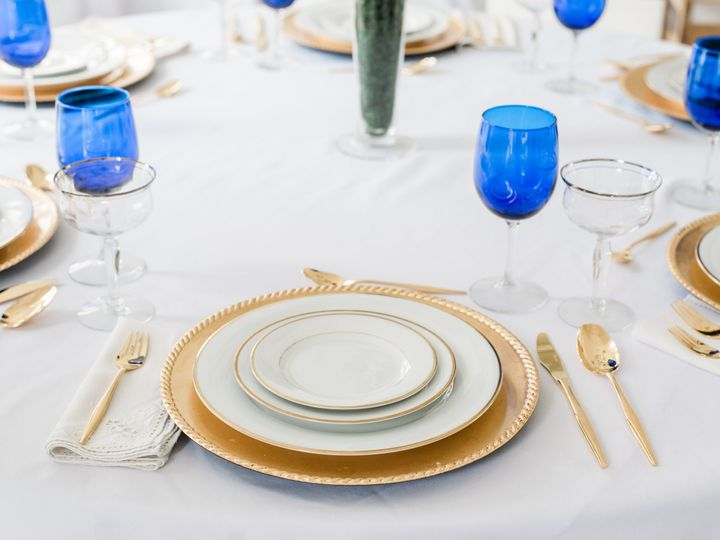 Tmx Tulsa China Hutch Blue Glass Table 001 51 1023823 V2 Collinsville, Oklahoma wedding rental