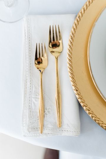 Mid century gold-plate details