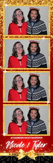 Red and gold photo strip