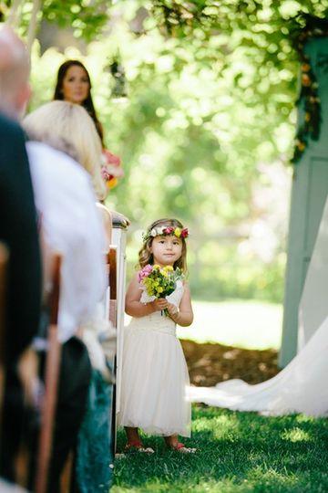 Cute flower girl ceremony
