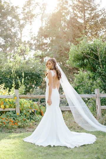 Gorgeous photo of bridal gown.