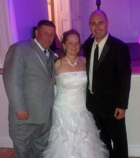 john with bride groom wedding couple