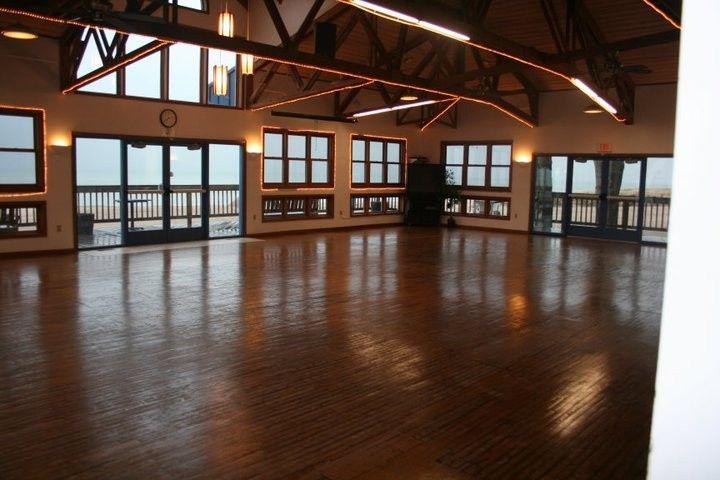 Polished wood floor