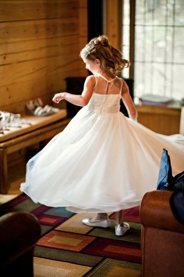 Flower girl's gown